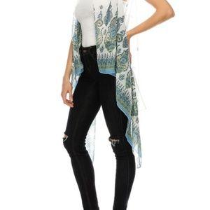 Jackets & Coats - Paisley Print Chiffon Vest